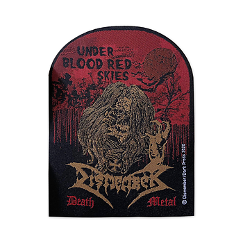 DISMEMBER - PATCH, UNDER BLOOD RED SKIES (BLACK BORDER)