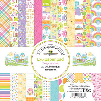 Doodlebug Design   6x6 Inch Paper Pad-Fairy Garden