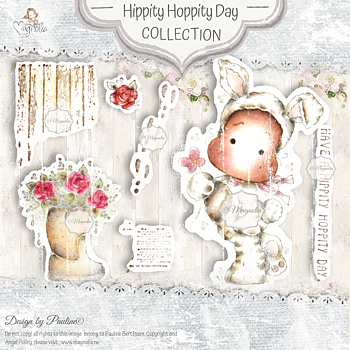 MAGNOLIA  -SB-20 Hippity Hoppity Day Art Stamp Sheet