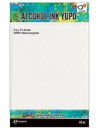 RANGER -Tim Holtz Alcohol Ink cardstock  Yupo Heavystock 5 x 7, 10pcs