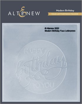 ALTENEW -Modern Birthday Faux Letterpress Debossing Folder