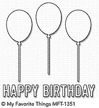 My Favorite Things -Happy Birthday Balloon Trio Die-Namics