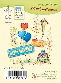 Leane Creatief Let's Party Clear Stamps
