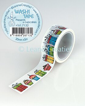 Leane Creatief Washi Tape Presents & Cupcakes