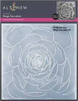 ALTENEW -Mega Succulent 3D Embossing Folder