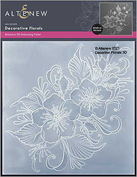 ALTENEW -Decorative Florals 3D Embossing Folder