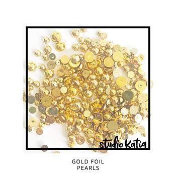STUDIO KATIA-GOLD FOIL PEARLS