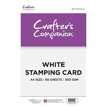 Crafter's Companion White Stamping Card A4 60 st