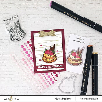 ALTENEW -Mini Flan Cake Stamp & Die Bundle