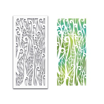 Polkadoodles -Leafy Forest Stencil