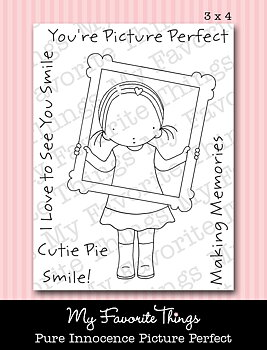 My Favorite Things -PI Picture Perfect  the clear stamp  slightly yellow