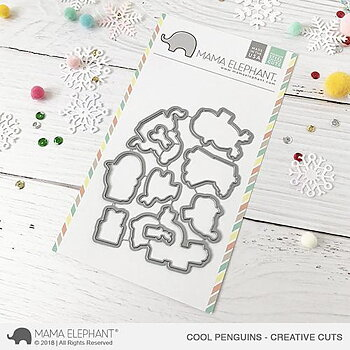 MAMA ELEPHANT-  COOL PENGUINS STAMP & DIE SET