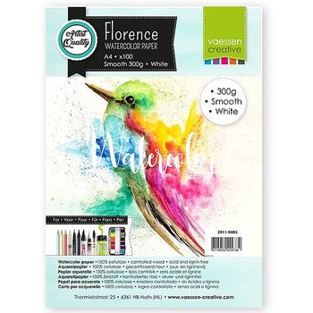 Florence • Watercolor paper smooth White 300g A4 100pcs