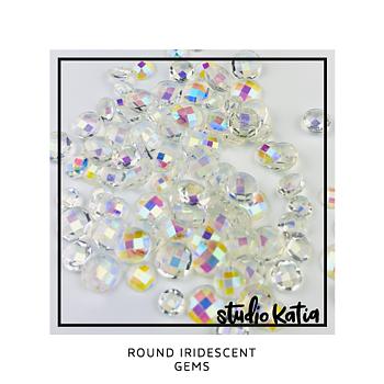 STUDIO KATIA-ROUND IRIDESCENT GEMS