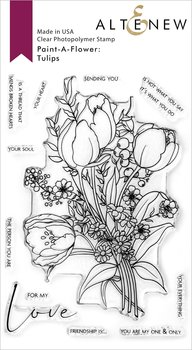 ALTENEW -Paint-A-Flower: Tulips Outline Stamp Set