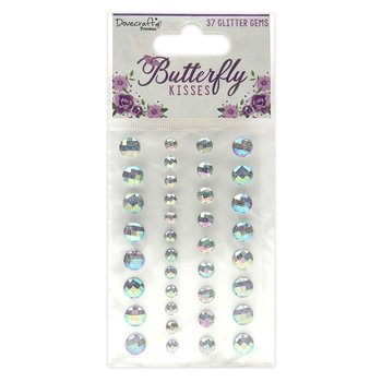 Dovecraft Butterfly Kisses Adhesive Glitter Gems