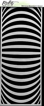 PICKET FENCE STUDIOS -Slim Line Movement 4x10 Inch Stencils