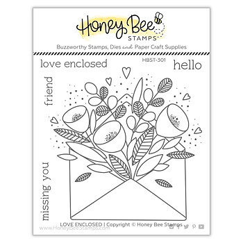 HONEY BEE STAMPS Pretty Postage | 4x4 Stamp Set
