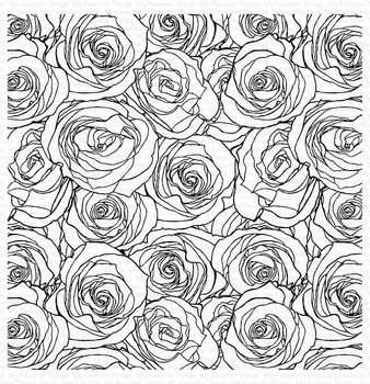 MY FAVORITE THINGS-Roses All Over Background