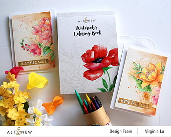 ALTENEW -Watercolor Coloring Book
