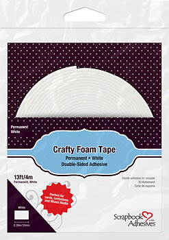 Scrapbook Adhesives-Crafty Foam Tape White
