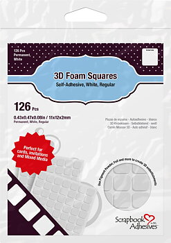 Scrapbook Adhesives-3D Foam Squares White Regular