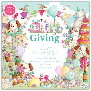 CRAFT CONSORTIUM-Craft Consortium The Gift of Giving 6x6 Inch Paper Pad