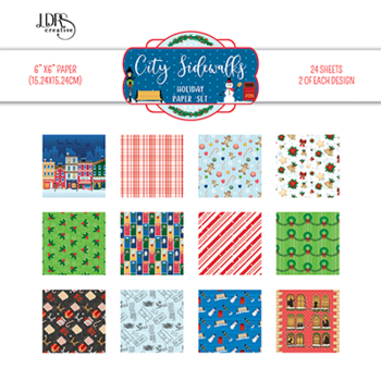 LDRSCreative -  6x6 Inch Paper Pack  City Sidewalks