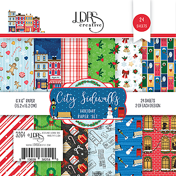 LDRS Creative  6x6 Inch Paper Pack  City Sidewalks