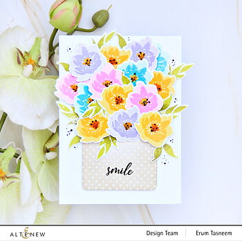 ALTENEW -Mini Delight: Smile Blooms Stamp & Die Set