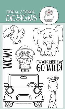 GERDA STEINER DESIGNS-Go Wild! STAMP & DIE SET