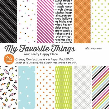 MY FAVORITE THINGS -Creepy Confections Paper Pad