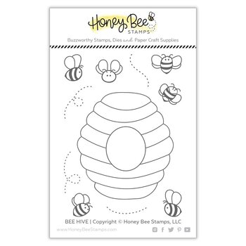 HONEY BEE  - 3x4 Stamp Set& Die Set - Bee Hive