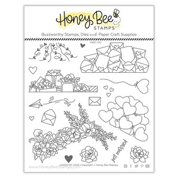 HONEY BEE STAMPS Loads Of Love | 6x6 Stamp & die  Set