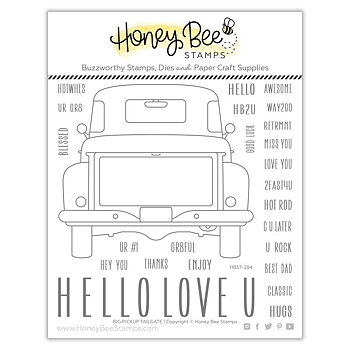 HONEY BEE STAMPS Big Pickup Tailgate | 6x6 Stamp & die  Set