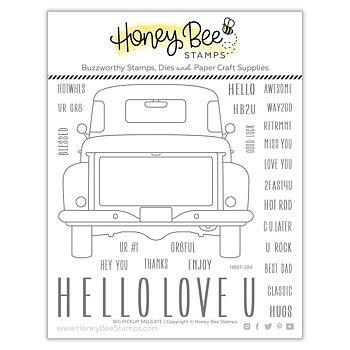 HONEY BEE STAMPS Big Pickup Tailgate | 6x6 Stamp & die  Set