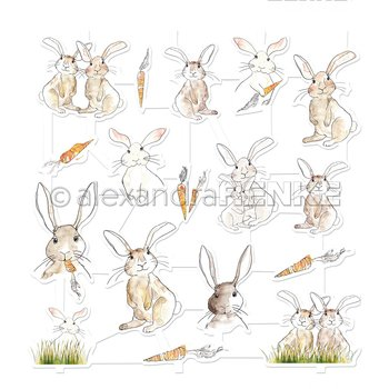 ALEXANDRA RENKE-aRt-Figurine 'Rabbit with carrot'  Die cut