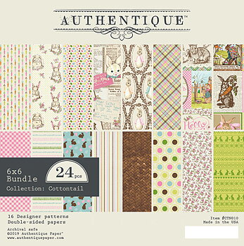 AUTHENTIQUE PAPER Cottontail 6x6 Inch Paper Pad