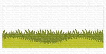 MY FAVORITE THINGS -Slimline Grassy Edges Stencil