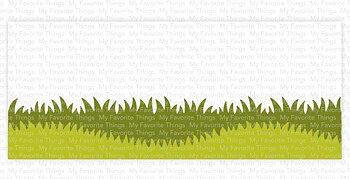 MY FAVORITE THINGS -Slimline Grassy Edges Stencil