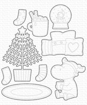 MY FAVORITE THINGS -BB Merry Christmoose STAMP & DIE SET