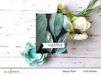 ALTENEW -Banana Leaves 3D Embossing Folder