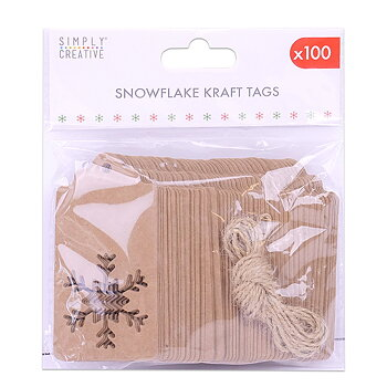 SIMPLY CREATIVE Christmas Die Cut Kraft Tag (100pcs)
