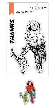 ALTENEW -Exotic Parrot Stamp & Die Bundle