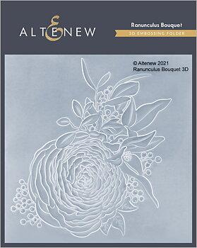 ALTENEW -Ranunculus Bouquet 3D Embossing Folder
