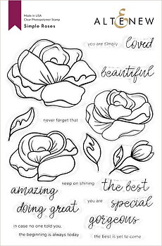 ALTENEW -Simple Roses Stamp Set