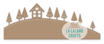 LA LA LAND CRAFTS  -Winter Hill Border Die