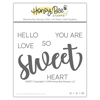 HONEY BEE STAMPS Sweet | 3x4 Stamp  & die Set