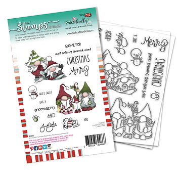 Polkadoodles -Gnomeazing Christmas Clear Stamps