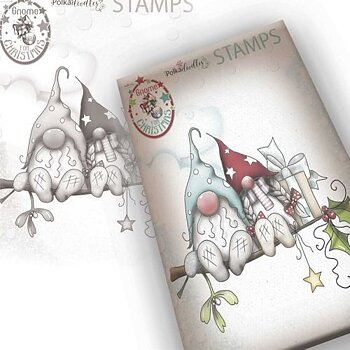 Polkadoodles -Gnome Christmas Love Clear Stamp